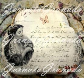 Bolso boquilla polipiel estampada Poema