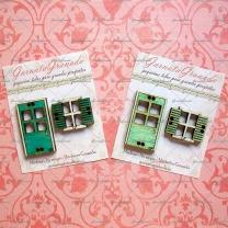 Botones de madera Puerta y Ventana